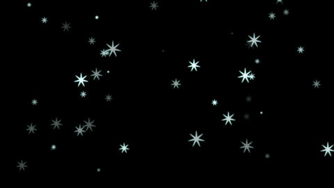 Snowfall Animation Stock Video Footage