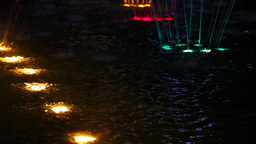 Light coloured fountain Stock Video Footage