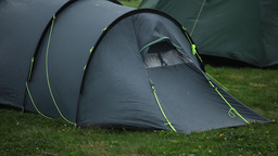 Tourist tent Stock Video Footage