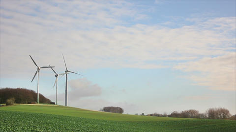 Windmills 3 HD1080p Stock Video Footage