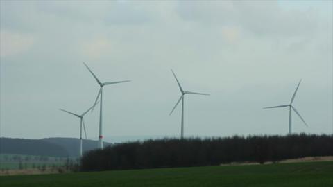 Windmills 8 HD1080p Stock Video Footage