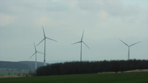 Windmills 8 HD1080p Stock Video Footage