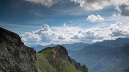 picos de europa fuente de timelapse mountains spain spectacular summer Footage