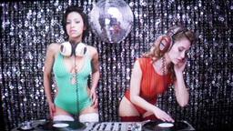 disco djs female sexy club music cute babes video static Footage