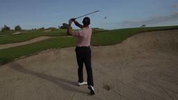golf bunker swing mexico luxury Footage