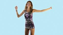 beautiful model disco dance Footage