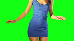 Model Dancer Green Screen stock footage