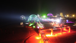 kazantip lights night festival party lasers neon event music Footage