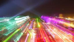 kazantip lights night festival party lasers neon event music Footage
