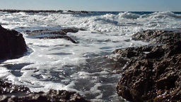 Gentle Wave Breaking In Cyprus, Low Angle stock footage