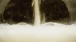 Beer splash huge foam layer Footage
