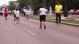 Children's Education in The Fight Against Obesity. Cross-Country Boys, Cross-Cou Footage