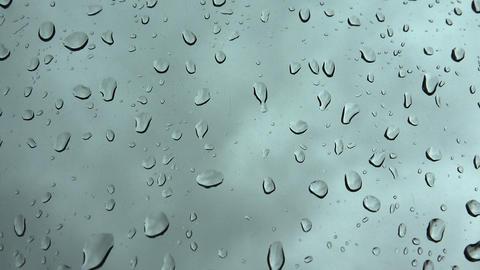 Waterdrops On Dark Background stock footage
