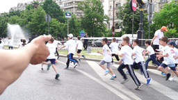 Children's Education in The Fight Against Obesity. Cross-Country Boys Footage