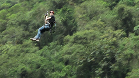Relaxed Zip Line HD stock footage
