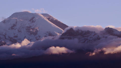 Chimborazo Volcano Sunset Time Lapse stock footage