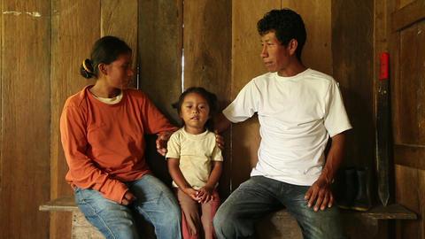 Quechua family conversation Footage