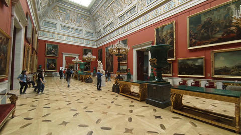 The halls of state Hermitage Museum in St. Petersburg Footage