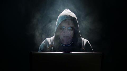 Internet Hacker Clean Black 4k UHD 11632 stock footage