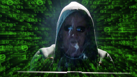 internet hacker binary code fly zoom out 4k UHD 11631 Footage