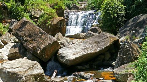 Forest waterfall in Sri Lanka Footage