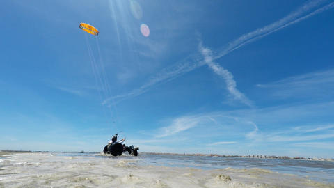 Kite buggy in action Footage