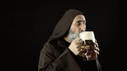Friar big beer mug enjoy share Footage