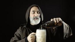 Friar big beer mug filling Footage