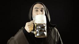 Friar big beer mug lust Footage