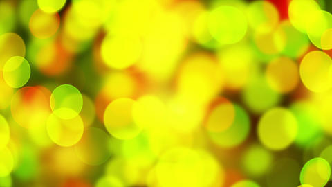 green yellow circle bokeh lights loopable background Animation
