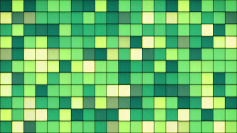 green tiles glass mosaic seamless loop background 4k (4096x2304) Animation