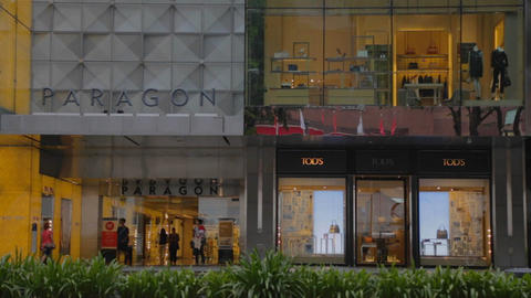 singapore - paragon mall on orchard road Footage