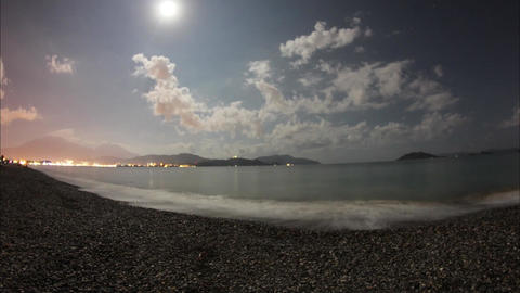 Calis Beach Timelapse Footage