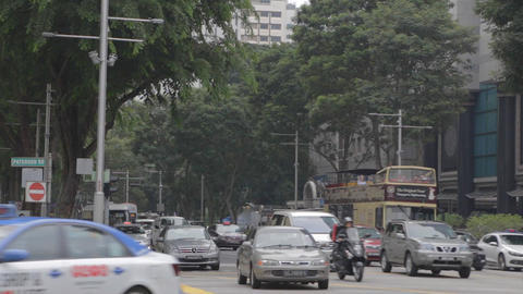 car traffic on orchard and paterson road singapore Live影片