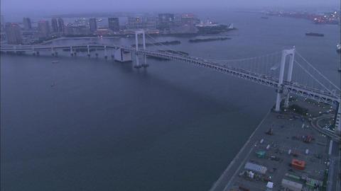 Tokyo Aerial Night 01 stock footage