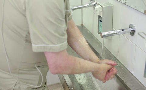 Hand disinfection before the surgery Footage