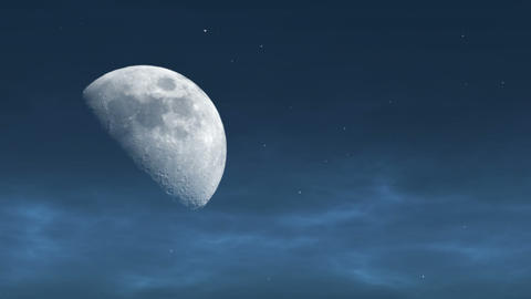 Moon In The Evening stock footage