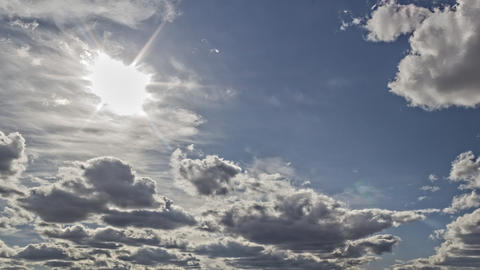 Clouds In Motion 11 stock footage