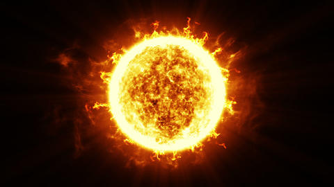 Beautiful Sun Surface And Solar Flares. HD 1080. Looped Animation stock footage