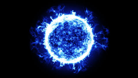 Blue Star Energy. HD 1080. Looped animation Animation