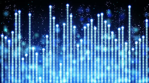 blue music equalizer seamless loop 4k (4096x2304) Animation