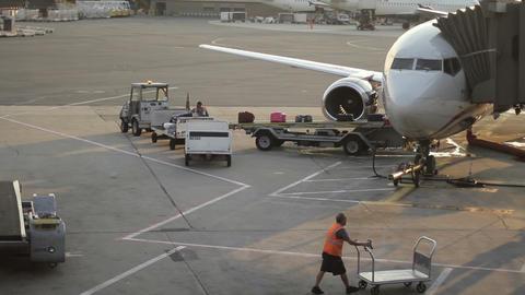 Airport Baggage Handler Footage