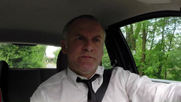 Manager Businessman Man People Commuting Driving Car To Office Workplace Footage