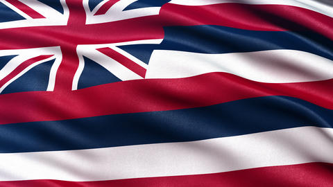 4K Hawaii state flag seamless loop Ultra-HD Animation