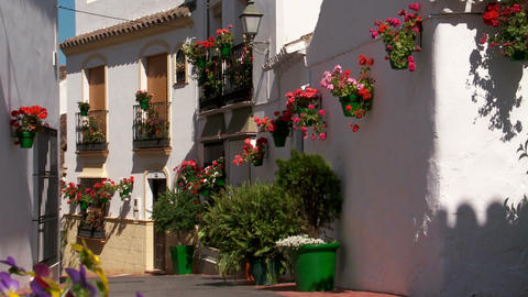 White village, Andalucia Footage
