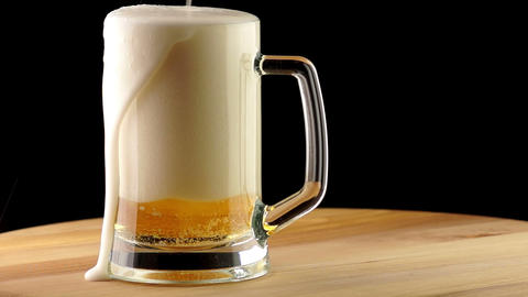 Light Beer is Poured into a Mug Footage