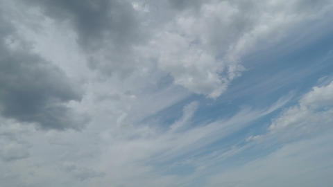 Blue Sky With Quick Clouds stock footage