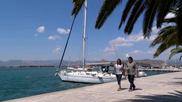 Old Town Nafplio, Greece stock footage