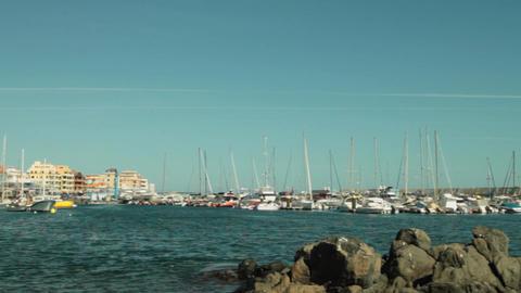 Panoramic View Yacht Marine stock footage