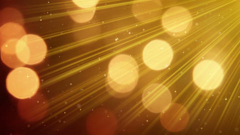 light rays and bokeh circles golden loopable background 4k (4096x2304) Animation